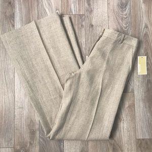 NWT Michael Kors Linen Long Pants Wide Leg size 2